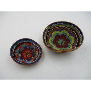 Boho Handmade Coconut Beaded Bowls Trinket Dishes